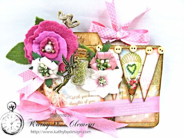 Fairy Happy Birthday Wishes Gift Card Wallet by Kathy Clement Photo 4
