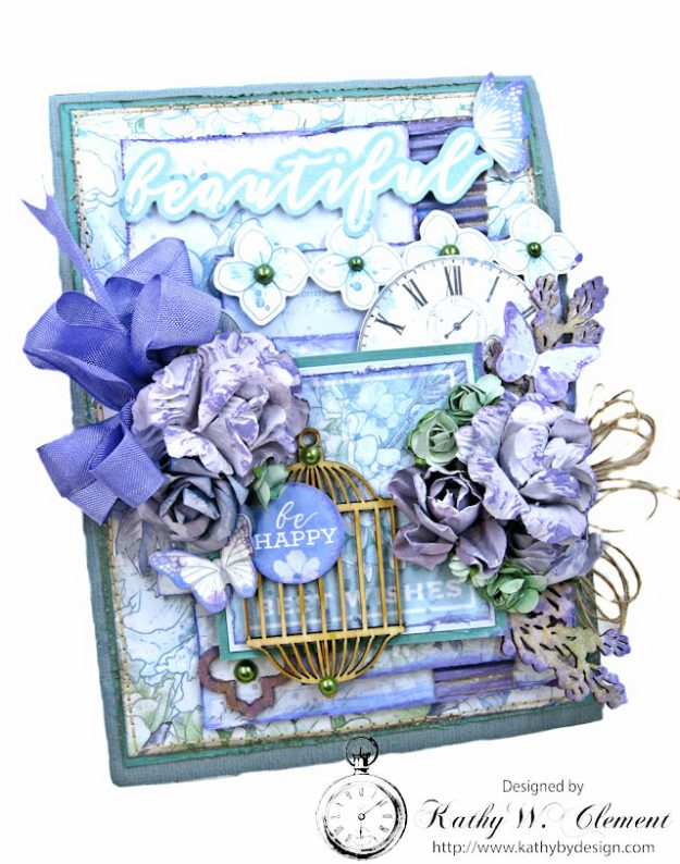 Kaisercraft 2017/18 Design Team Application Lilac Whisper Celebration Folio by Kathy Clement Product by Kaisercraft Photo 1