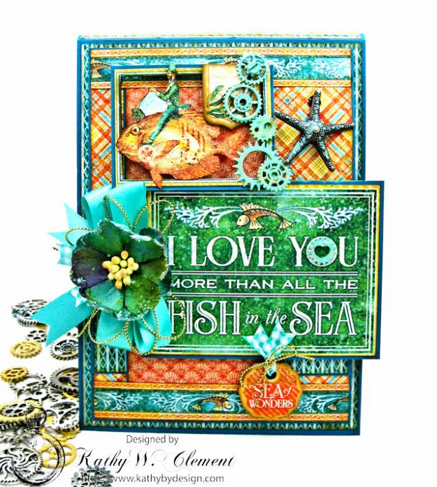 More Than All the Fish in the Sea Folio Voyage Beneath the Sea by Kathy Clement for Really Reasonable Ribbon Product by Graphic 45 Photo 1