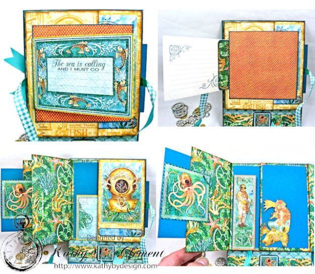 More Than All the Fish in the Sea Folio Voyage Beneath the Sea by Kathy Clement for Really Reasonable Ribbon Product by Graphic 45 Photo 7