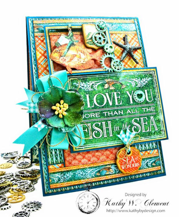 More Than All the Fish in the Sea Folio Voyage Beneath the Sea by Kathy Clement for Really Reasonable Ribbon Product by Graphic 45 Photo 2