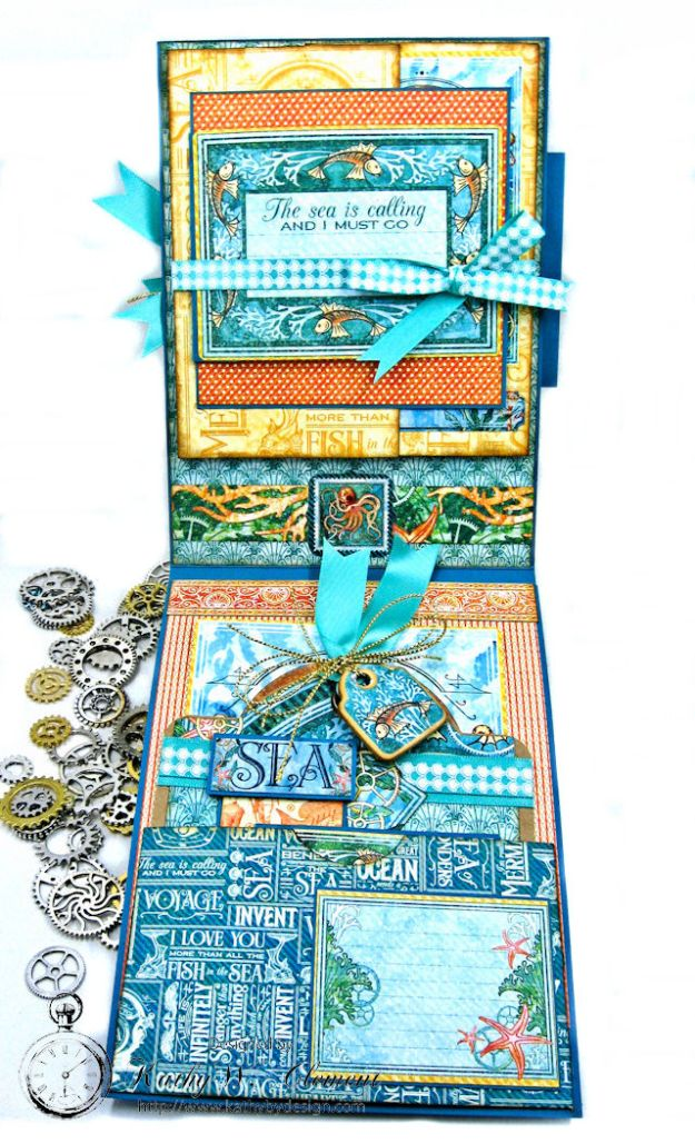 More Than All the Fish in the Sea Folio Voyage Beneath the Sea by Kathy Clement for Really Reasonable Ribbon Product by Graphic 45 Photo 6