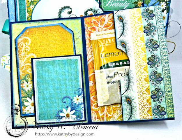 Peacock Paisley Altered Envelope Tutorial by Kathy Clement Product by Heartfelt Creations Photo 8