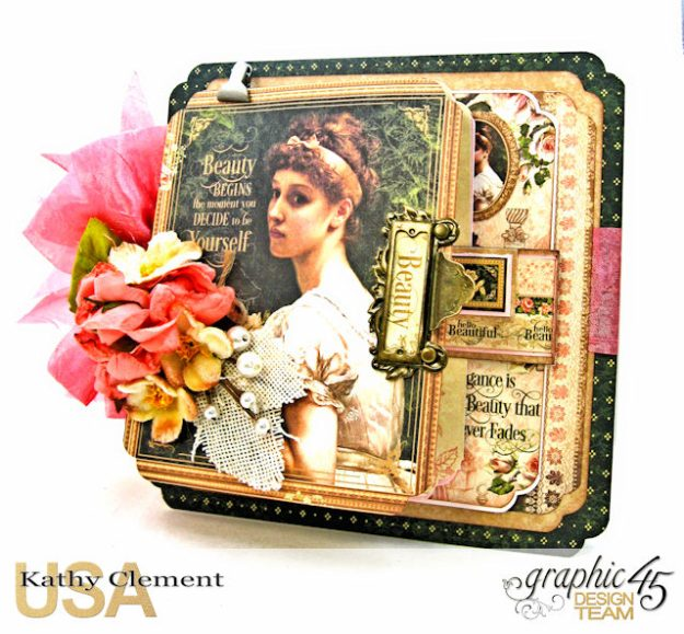 Fanfare Card Tutorial Portrait of a Lady by Kathy Clement Product by Graphic 45 Photo 1