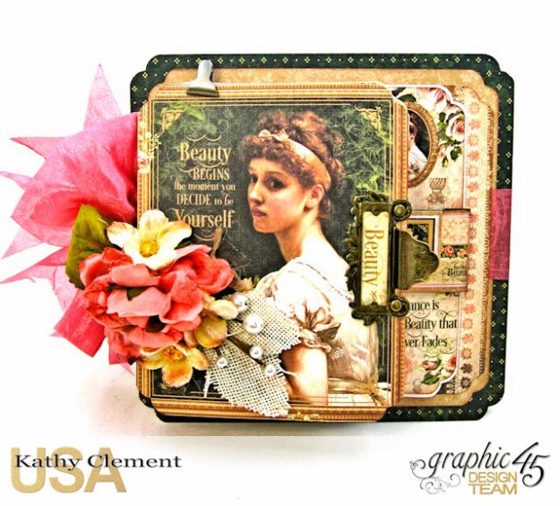 Fanfare Card Tutorial Portrait of a Lady by Kathy Clement Product by Graphic 45 Photo 3
