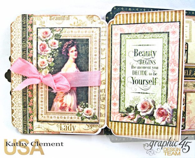 Fanfare Card Tutorial Portrait of a Lady by Kathy Clement Product by Graphic 45 Photo 5