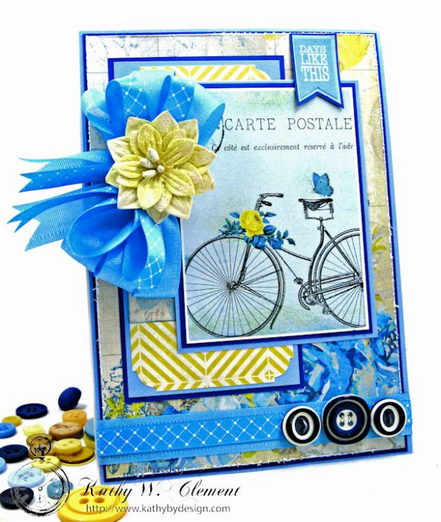 Ride On All Occasion Hidden Tag Card by Kathy Clement for Really  Reasonable Ribbon Photo 1