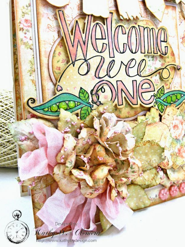 Welcome Wee One Baby Girl Folio by Kathy Clement Product by Tammy Tutterow Designs Photo 6