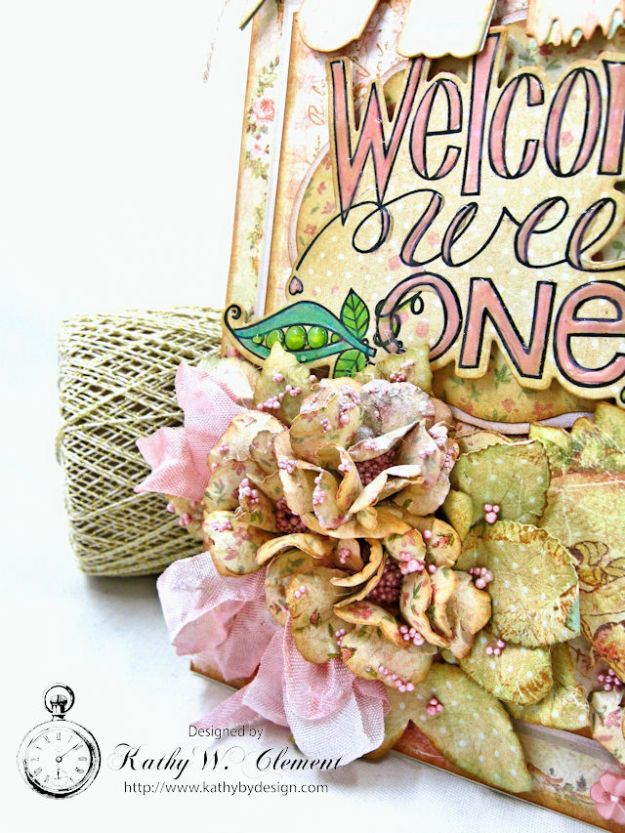 Welcome Wee One Baby Girl Folio by Kathy Clement Product by Tammy Tutterow Designs Photo 7