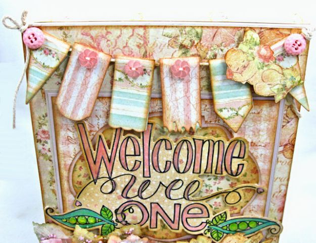 Welcome Wee One Baby Girl Folio by Kathy Clement Product by Tammy Tutterow Designs Photo 5