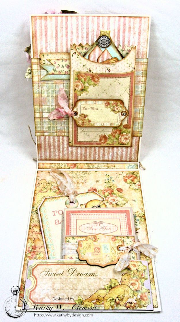 Welcome Wee One Baby Girl Folio by Kathy Clement Product by Tammy Tutterow Designs Photo 8