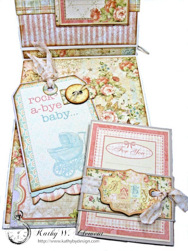 Welcome Wee One Baby Girl Folio by Kathy Clement Product by Tammy Tutterow Designs Photo 11