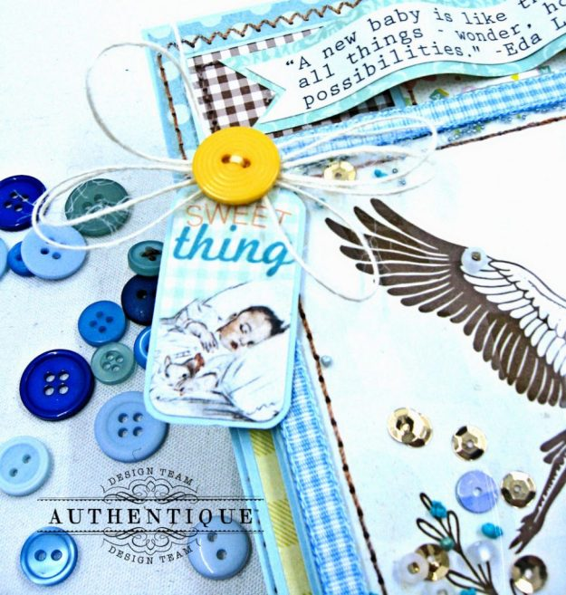 Authentique Beginnings Baby Boy Shaker Card Tutorial by Kathy Clement Photo 4