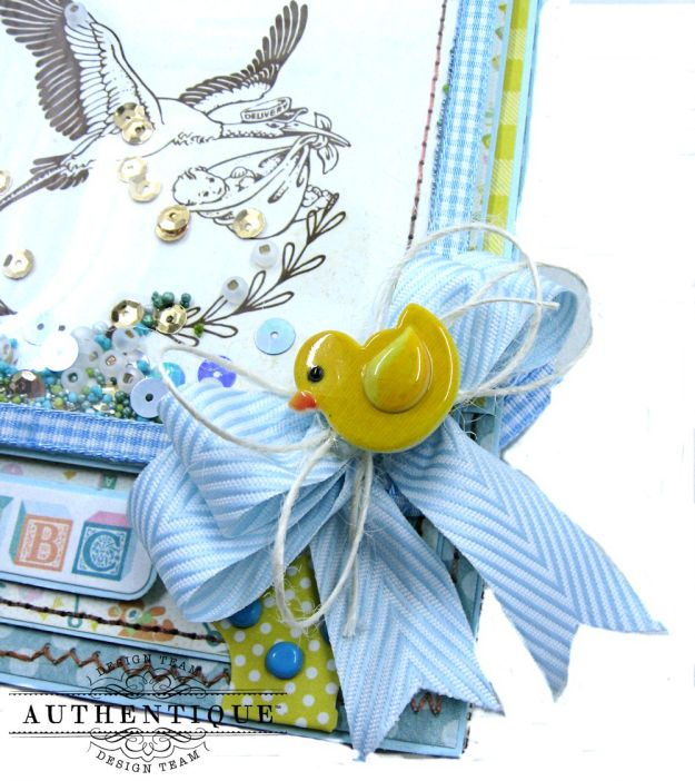 Authentique Beginnings Baby Boy Shaker Card Tutorial by Kathy Clement Photo 5