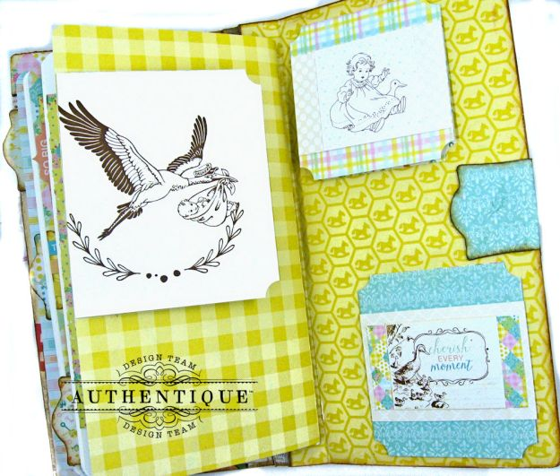 Beginnings Baby Book Beginnings by Kathy Clement Product by Authentique Paper Photo 19