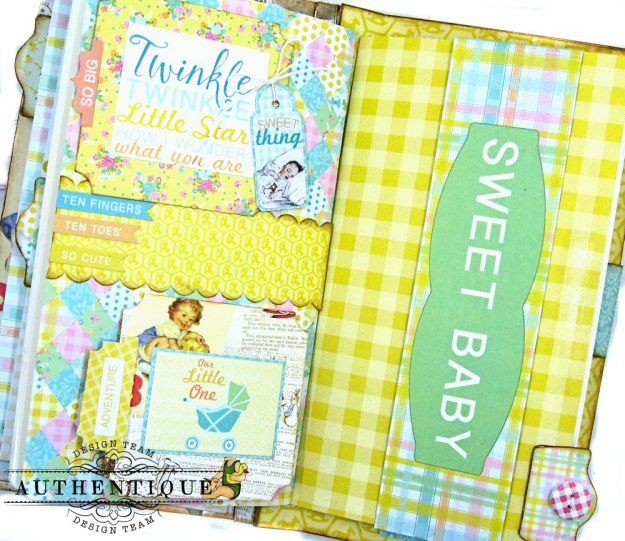 Beginnings Baby Book Beginnings by Kathy Clement Product by Authentique Paper Photo 12