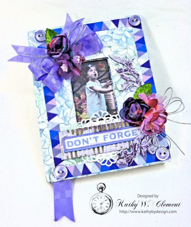 Lilac Whisper Shabby Chic Altered Notebook by Kathy Clement for RRR Product by Kaisercraft Photo 2