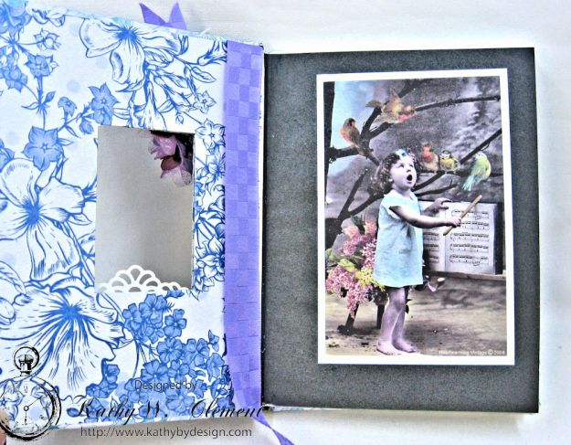Lilac Whisper Shabby Chic Altered Notebook by Kathy Clement for RRR Product by Kaisercraft Photo 3