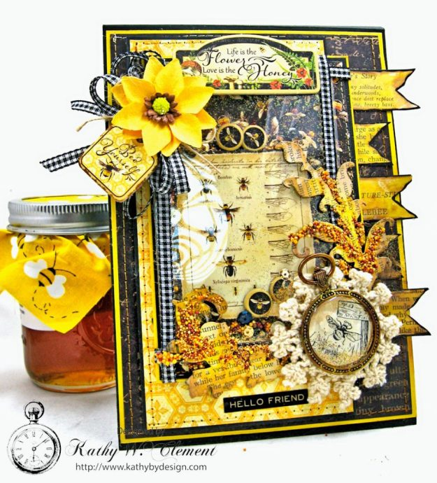 Nature Sketchbook Honeybee Shaker Card by Kathy Clement Photo 2