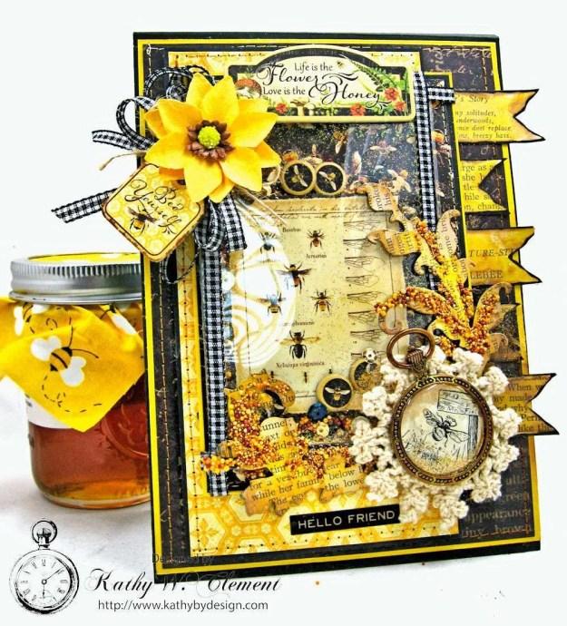 Nature Sketchbook Honeybee Shaker Card by Kathy Clement Photo 2