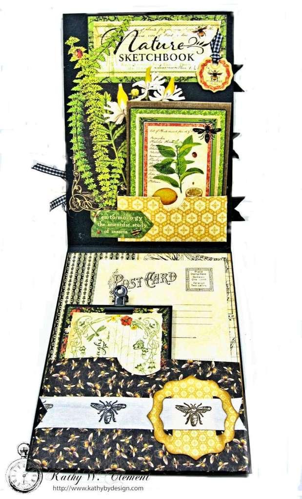 Nature Sketchbook Honeybee Shaker Card by Kathy Clement Photo 4