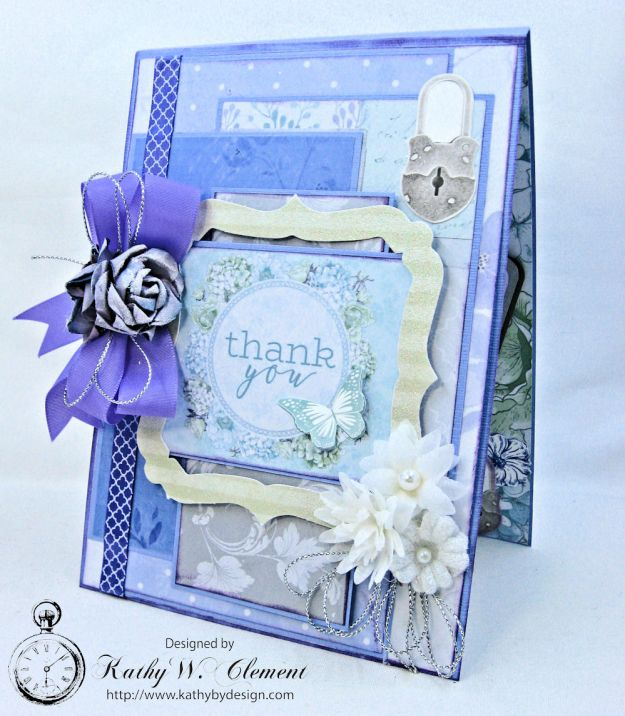 Lilac Whisper Thank You Card by Kathy Clement for RRR Product by Kaisercraft Photo 2