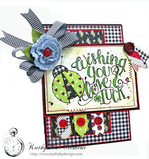Love, Luck and Ladybugs Bookmark Card by Kathy Clement for Tammy Tutterow Designs Photo 1