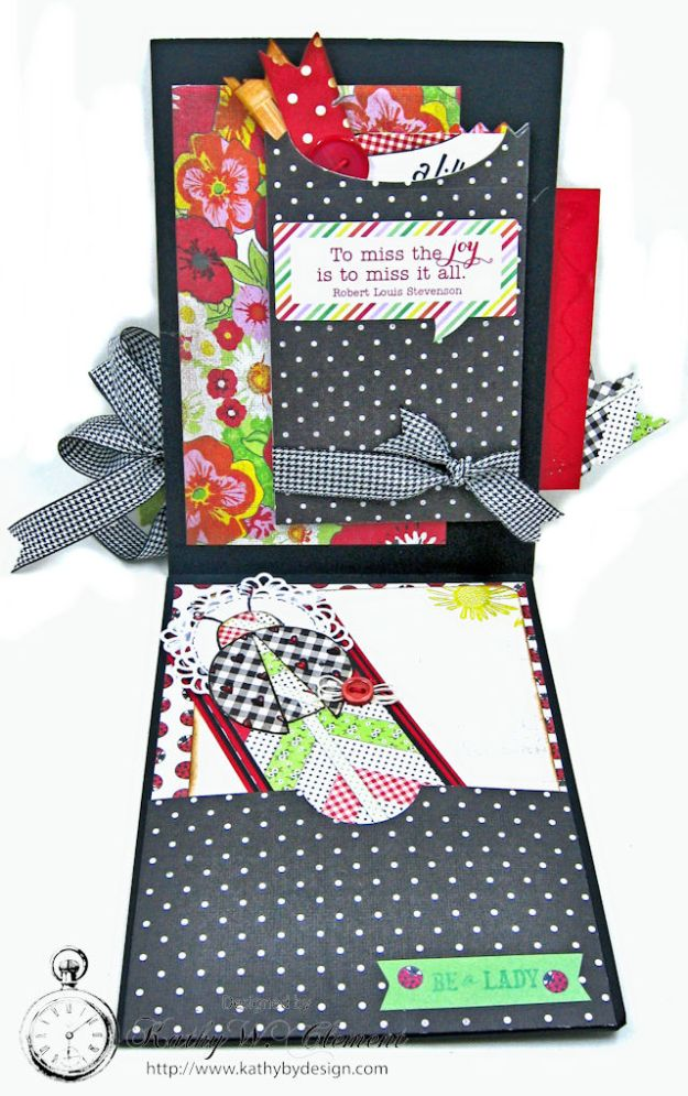 Love, Luck and Ladybugs Bookmark Card by Kathy Clement for Tammy Tutterow Designs Photo 3