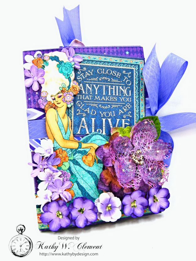 Midnight Masquerade Tri Fold Folio by Kathy Clement for RRR Product by Graphic 45 Photo 1