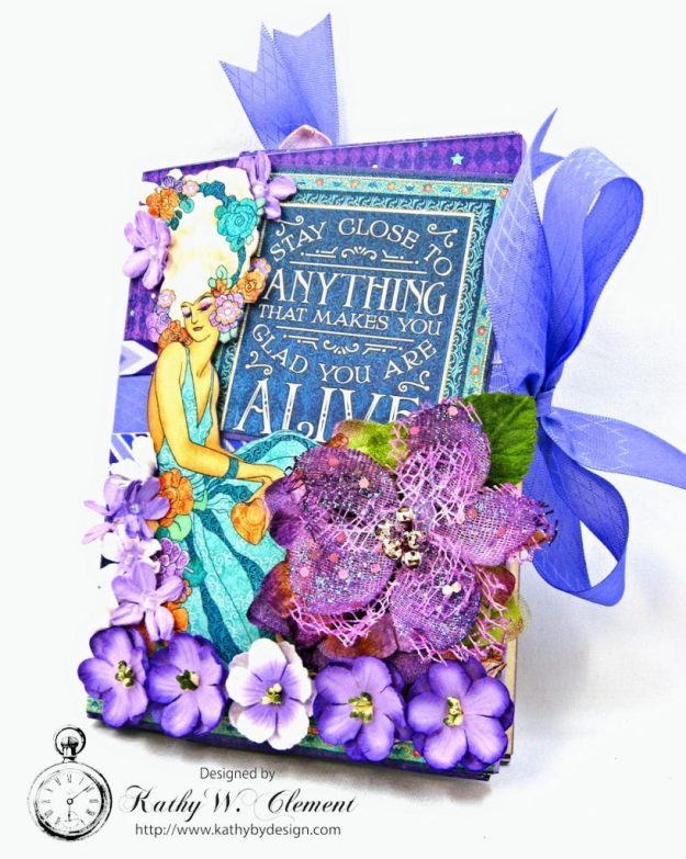 Midnight Masquerade Tri Fold Folio by Kathy Clement for RRR Product by Graphic 45 Photo 2
