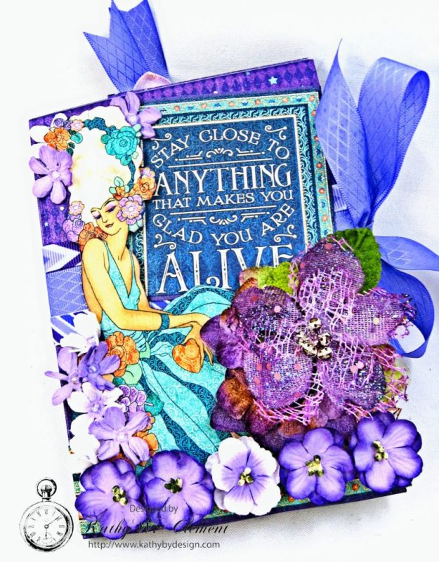 Midnight Masquerade Tri Fold Folio by Kathy Clement for RRR Product by Graphic 45 Photo 3