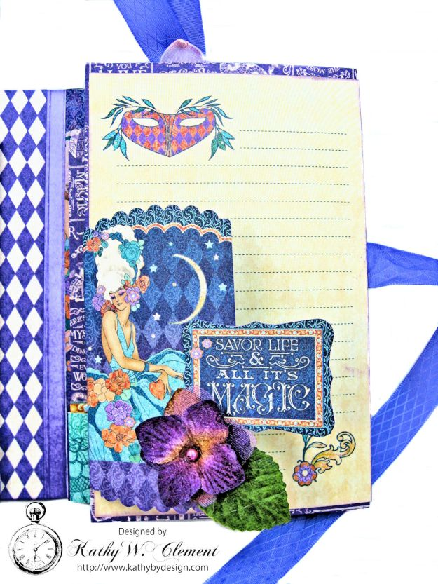 Midnight Masquerade Tri Fold Folio by Kathy Clement for RRR Product by Graphic 45 Photo 5