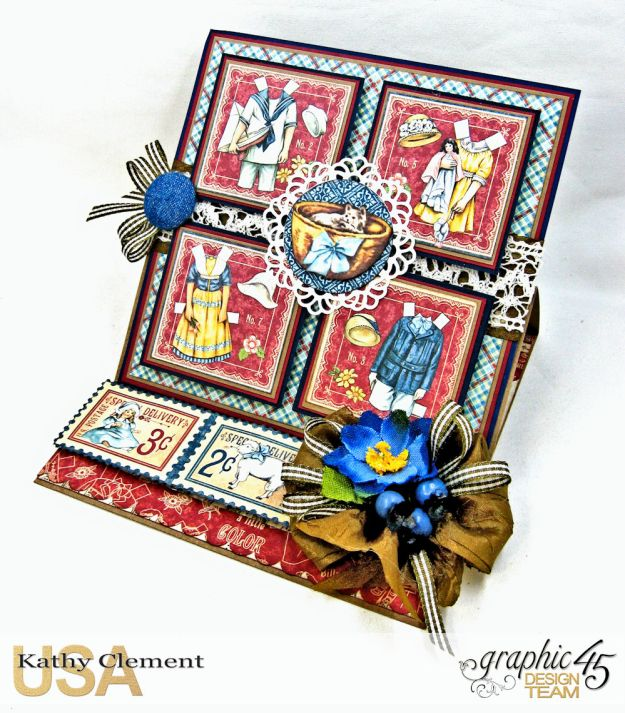 Graphic 45 Paper Doll Family Easel Card Penny's Paper Doll Family by Kathy Clement Product by Graphic 45 Photo 3