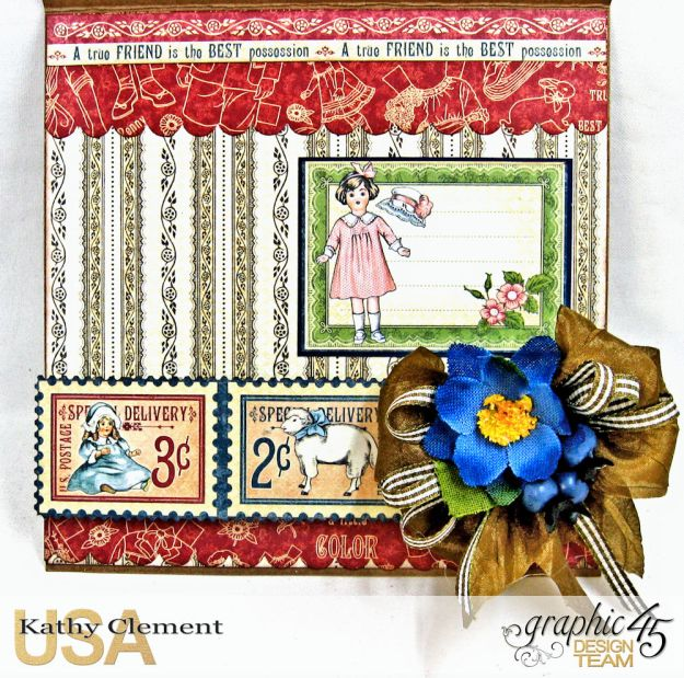 Graphic 45 Paper Doll Family Easel Card Penny's Paper Doll Family by Kathy Clement Product by Graphic 45 Photo 6