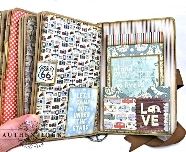 Authentique Pastime Passport Style Mini Album by Kathy Clement Photo 11