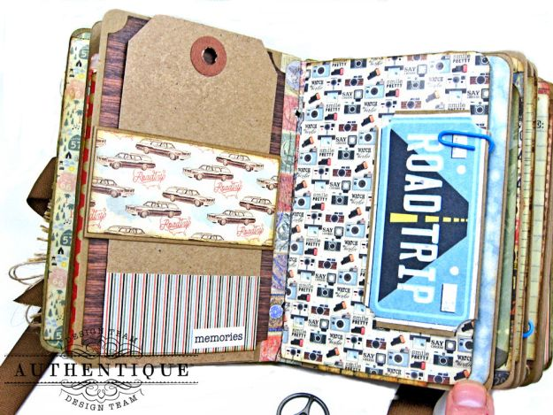 Authentique Pastime Passport Style Mini Album by Kathy Clement Photo 8