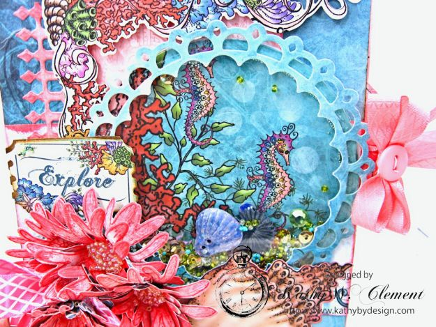 Heartfelt Creations Under the Sea Seashell Shaker Card Photo 3