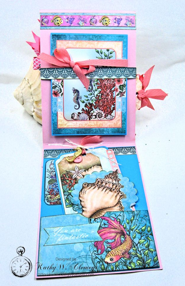 Heartfelt Creations Under the Sea Seashell Shaker Card Photo 6