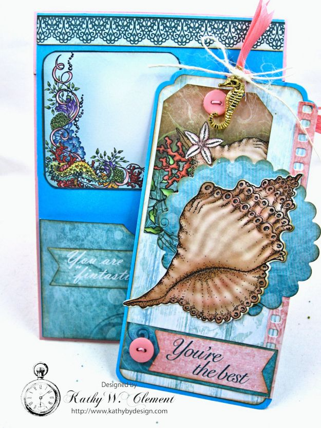 Heartfelt Creations Under the Sea Seashell Shaker Card Photo 9