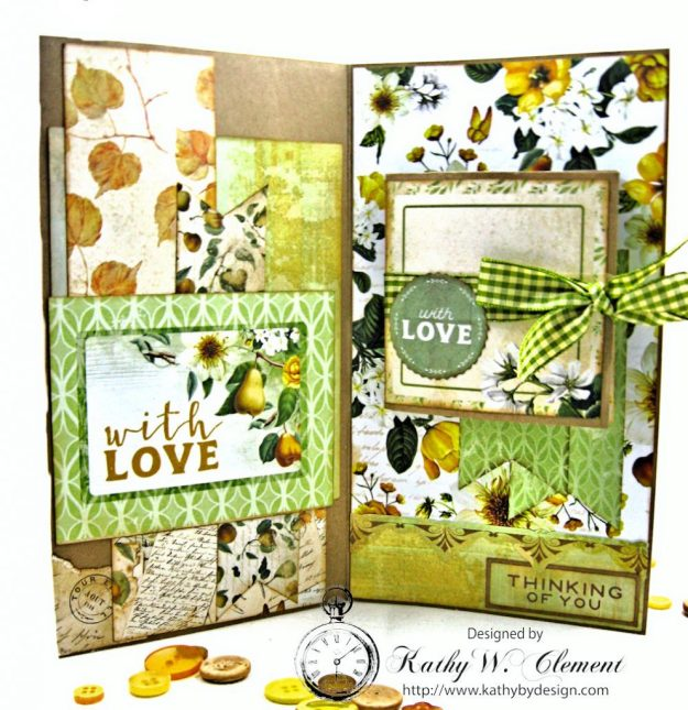 Autumn Hues Tag Pocket Greeting Card by Kathy Clement for Really Reasonable Ribbon Photo 4