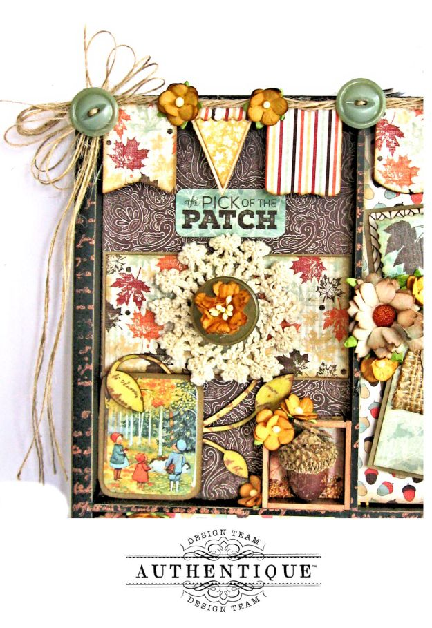 Authentique Bountiful Fall Home Decor Tutorial by Kathy Clement Photo 2