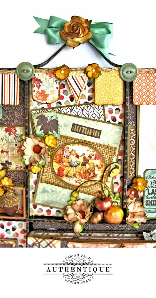Authentique Bountiful Fall Home Decor Tutorial by Kathy Clement Photo 3