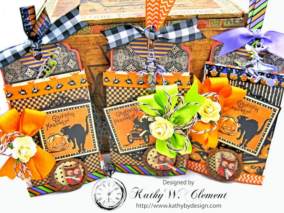 Butterfinger Halloween Treat Bags by Kathy Clement for RRR September 2017 Blog Hop Photo 1