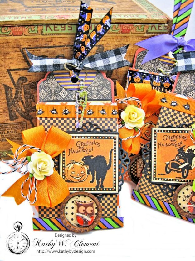Butterfinger Halloween Treat Bags by Kathy Clement for RRR September 2017 Blog Hop Photo 10