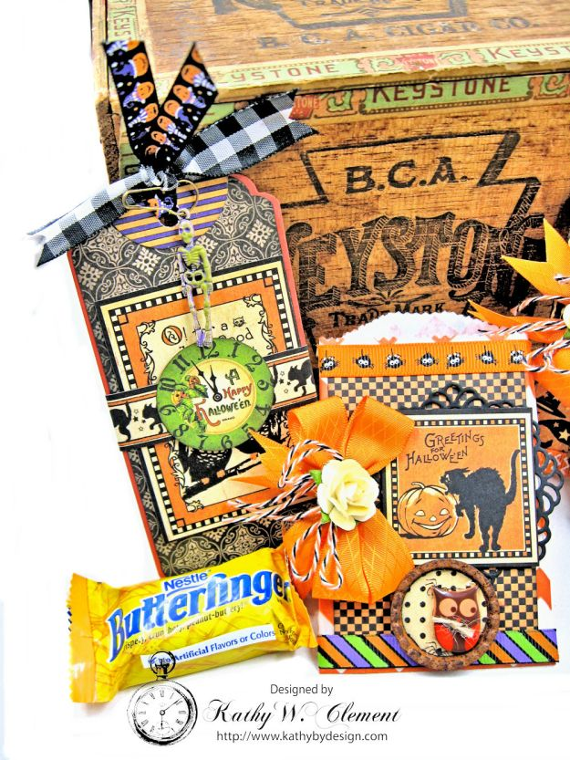 Butterfinger Halloween Treat Bags by Kathy Clement for RRR September 2017 Blog Hop Photo 7