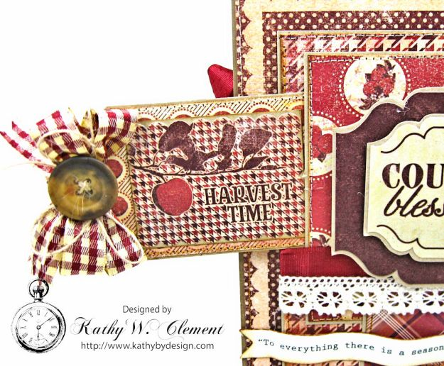 Counting My Blessings Fall Folio by Kathy Clement for Really Reasonable Ribbon Product by Authentique Photo 6