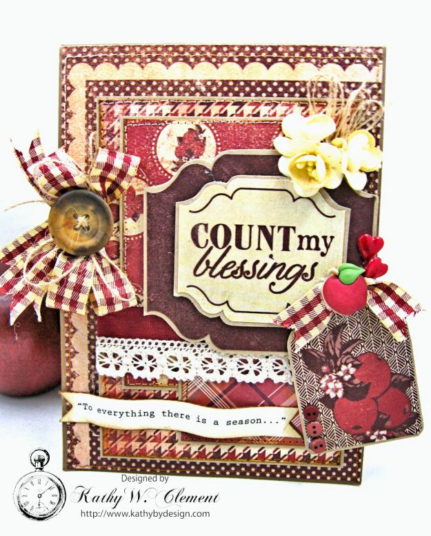 Counting My Blessings Fall Folio by Kathy Clement for Really Reasonable Ribbon Product by Authentique Photo 3