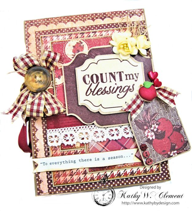 Counting My Blessings Fall Folio by Kathy Clement for Really Reasonable Ribbon Product by Authentique Photo 4