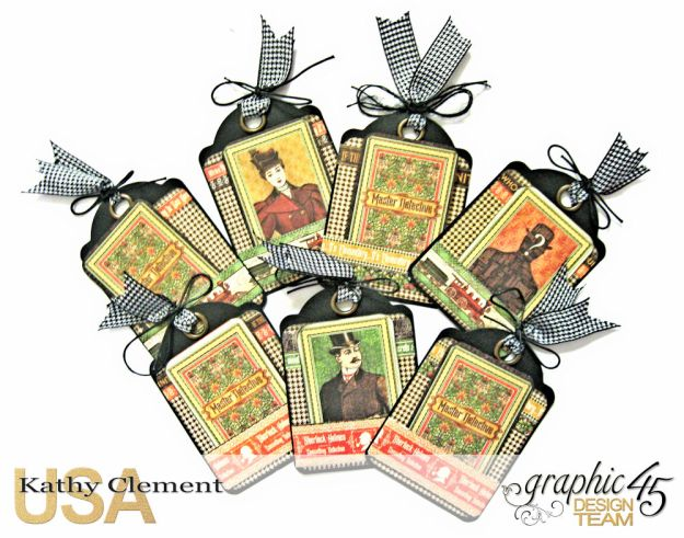 Graphic 45 Master Detective Photo Wallet Tutorial Master Detective by Kathy Clement Product by Graphic 45 Photo 12