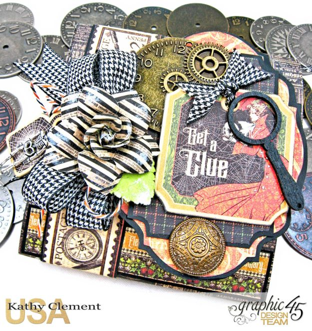Graphic 45 Master Detective Photo Wallet Tutorial Master Detective by Kathy Clement Product by Graphic 45 Photo 2